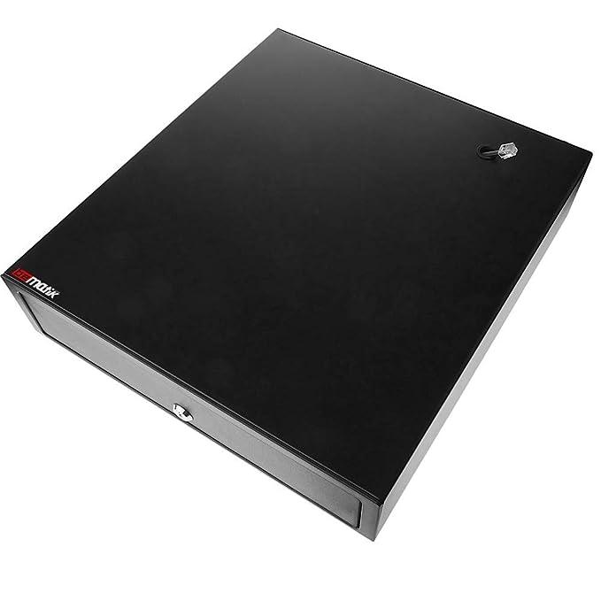 BeMatik - Cajón portamonedas Negro automático RJ11 para Impresora TPV POS para Billetes y Monedas