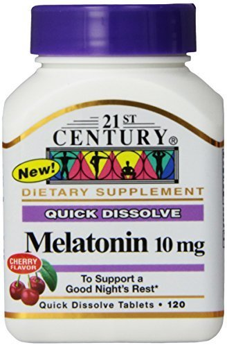Amazon.com : 21st Century Melatonin Quick Dissolve Tablets, Cherry, 10 mg, 120 Count (Pack of 3) : Beauty