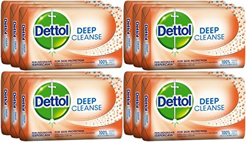 Dettol Deep Cleanse Bar Soap, 105 Grams / 3.7 Ounce (Pack of 12)