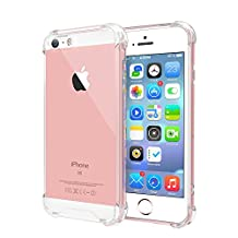 iPhone 5 / 5s / SE Case, Skypillar Canada, TPU Bumper [Drop Cushion] [Crystal Clear] Soft Slim Protective Cover for Apple iPhone 5 / 5s / SE Case - Clear