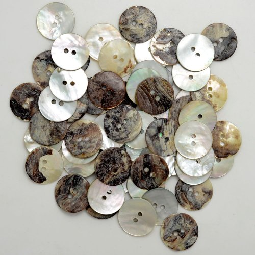 """3/4"""" Natural Agoya Shell Round Buttons, 2-Hole Button for sale  Delivered anywhere in USA"""