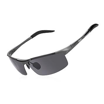 Gafas de sol polarizadas para hombre y mujer Giwil, ultra ligeras, marco de metal irrompible para correr, ciclismo, esquí, gris: Amazon.es: Deportes y aire ...