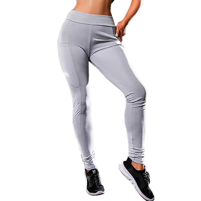 Amazon.com: Michelle&A - Mallas de yoga para mujer, con ...