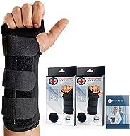 Doctor Developed Carpal Tunnel Night Wrist Brace & Wrist Support [Single] (with Splint) & Doctor Writt