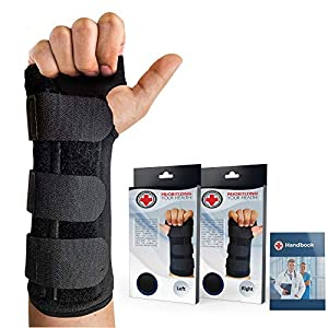 Doctor Developed Carpal Tunnel Night Wrist Brace & Wrist Support [Single] (with Splint) & Doctor Written Handbook… 15