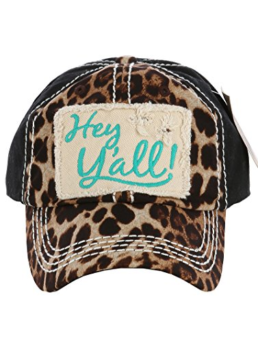 Embroidered Print Hat - 1