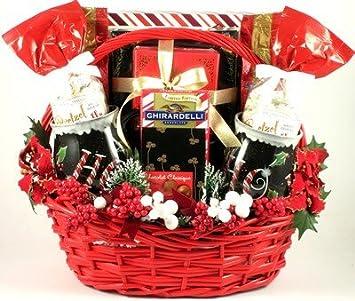 kiss me under the mistletoe deluxe christmas gift basket