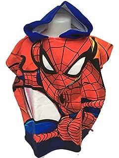 Spiderman Capa de baño – Poncho de baño (microfibra 100% poliéster – 110 x