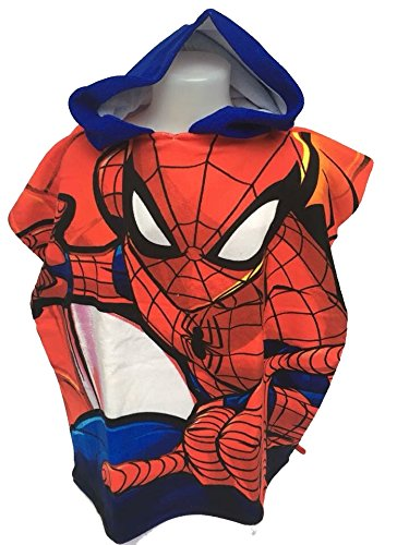 Spiderman Disney Bath Poncho Microfibre 100/% Polyester 110 x 55 cm Marvel