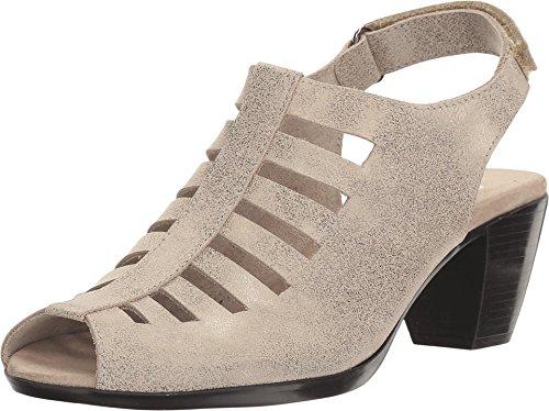 Munro Women's Abby Silver Metallic Nubuck 7.5 D (Munro Shoes Women)