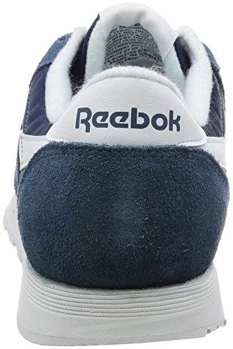 Reebok Classic Nylon, Basses Homme, Bleu (Brave Blue/Blanc), 44.5 EU