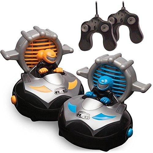 Kid Galaxy Remote Control Bump N Chuck Bumper Cars RC Toy Game 2 Radio Vehicles