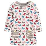 Frogwill Little Girls Long Sleeve Birdie Jersey Dresses Tunics 3T