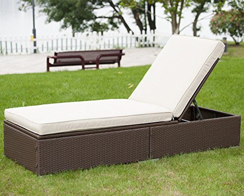 Pool Chaise Lounge Cushions: PatioPost Wicker Patio Furniture Outdoor Collection Pool
