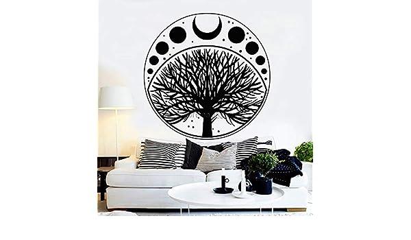 yiyitop Fases de la Luna Ciclo Árbol de la Vida Símbolo Etiqueta ...