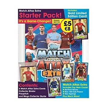 Topps Match Attax Extra 2017/18 Starter Pack Album con ...