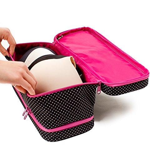 Large Travel Bra Organizer - Versatile Storage Bag For Women On Travel