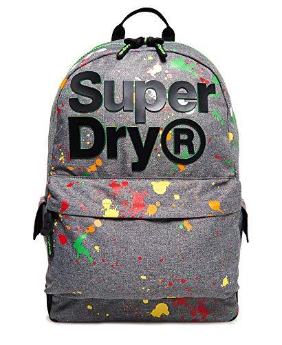 Superdry 2 Tone Splatter Montana Rucksack (Light Grey Marl, One -