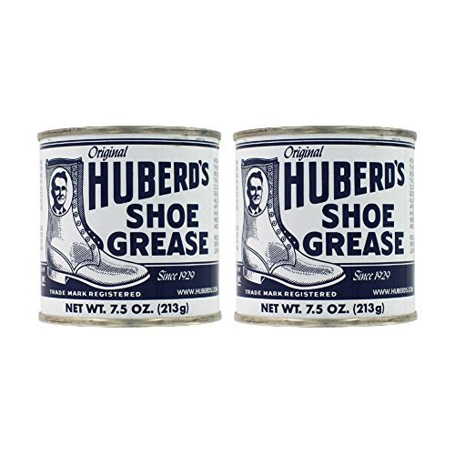 Huberd's Original Shoe Grease 7.5 Ounces (Pack of 2) (Best Mink Oil For Leather Boots)