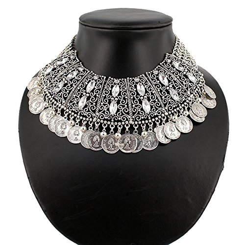 PSNECK Necklace collar chain coin tassel Unique Europe costume chain pendant statement (Diy Plus Size Halloween Costumes)