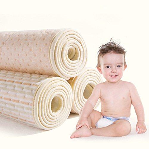 Baby Waterproof Bamboo Fiber Waterproof Changing Pad - Natural Organic Cotton Crib Mattress - Reusable Portable Changing Mat for Home and Travel