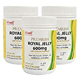 Hi Well Premium New Zealand Bee Royal Jelly 600mg with Natural Vitamin E 300 Soft Gels Immune Support Vitamins & Minerals (Pack of 3)