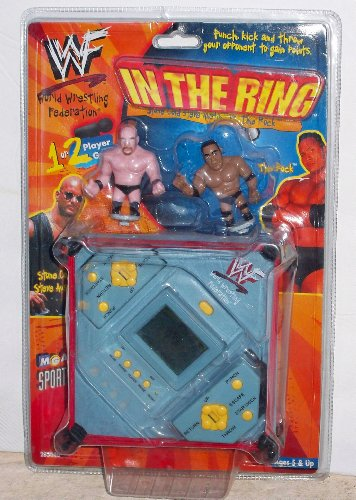 WWF In The Ring Electronic Handheld Game - Stone Cold vs. The Rock (1999) by MGA