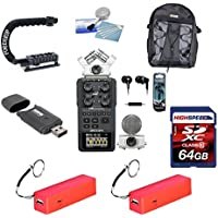 Zoom H6 Six-Track Portable Recorder + The Deluxe DSLR Bundle