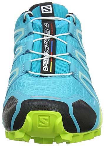 Salomon Speedcross 4 W, Scarpe da Trail Running Donna Blu (Bluebird/Acid Lime/Black Bluebird/Acid Lime/Black)