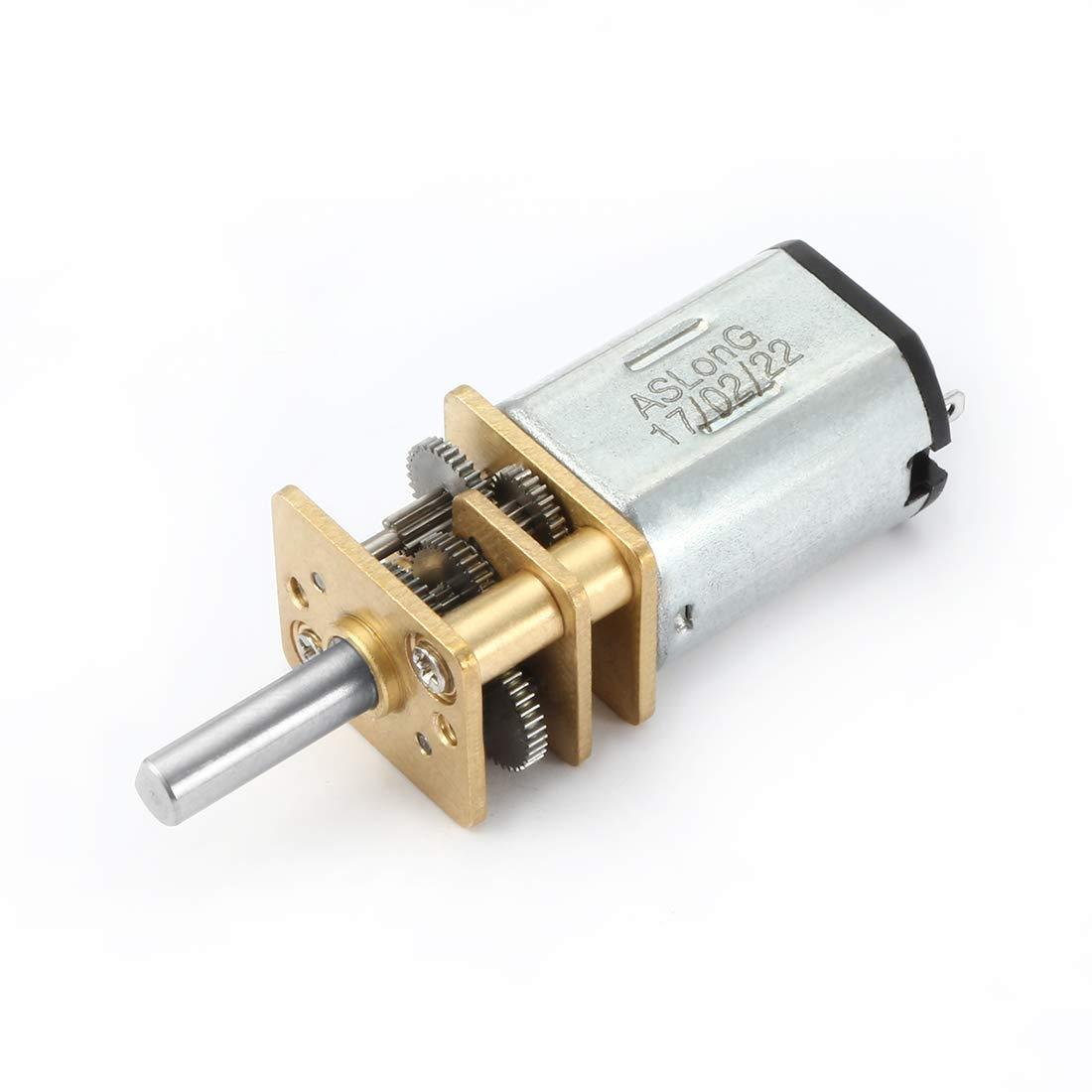 sourcingmap C.C. 6V 100RPM Micro Motorreductor Elé ctrico Reducció n de Velocidad Caja de Engranajes US-SA-AJD-329130