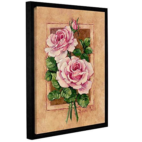 ArtWall Barbara Mock's Rose Fresco, Gallery Wrapped Floater-Framed Canvas 14 x 18