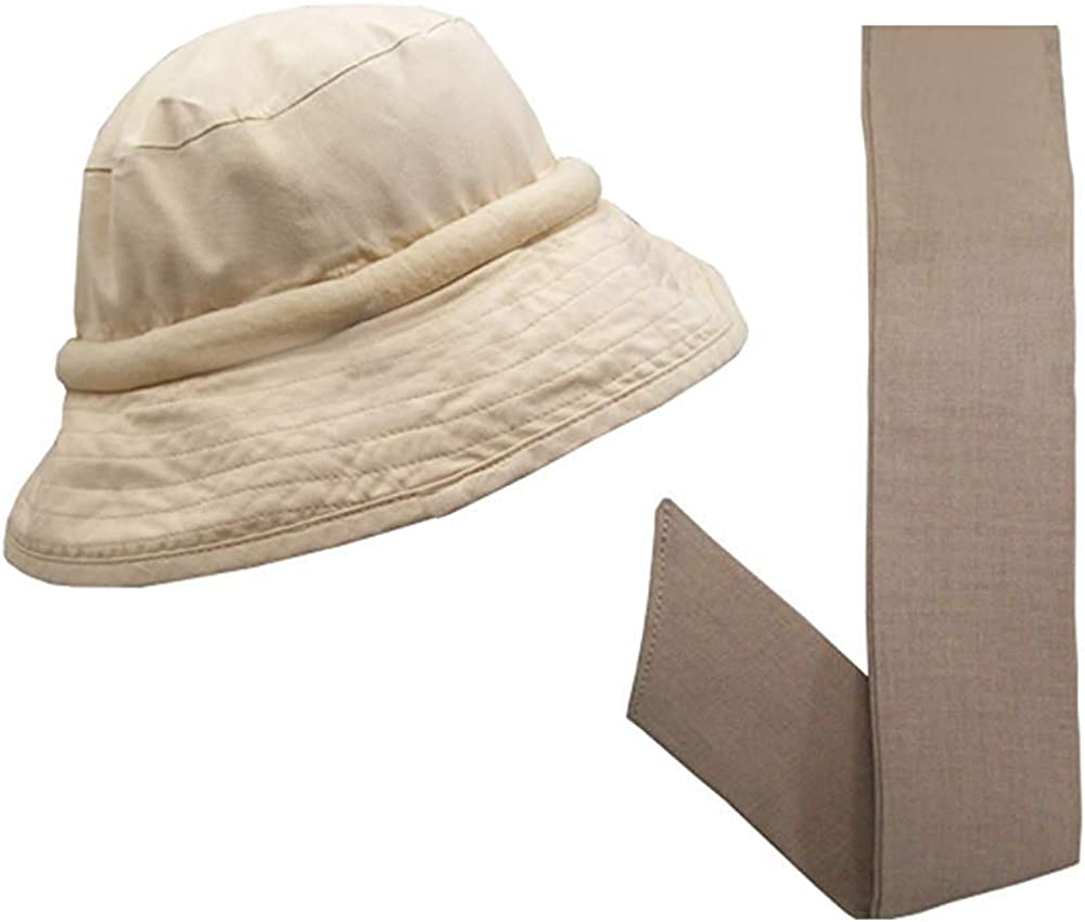 Blubandoo ater Evaporative Cooling Crystals| Floppy Hatbandoo Bucket Hat with Matching Neckbandoo | Unisex Hat