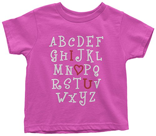 (Threadrock Kids I Heart You Alphabet Toddler T-Shirt 3T Hot)