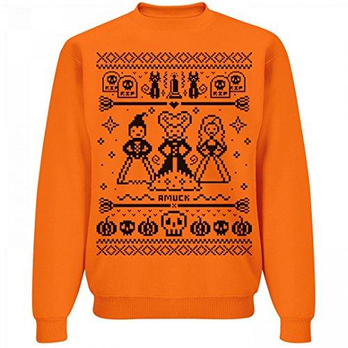 90s Kid Halloween Sweater: Unisex Jerzees Neon Crewneck Sweatshirt (Ugly Halloween Sweaters)
