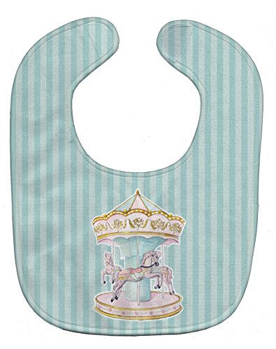 Caroline's Treasures Baby Bib, Carousel, Large from Caroline's Treasures