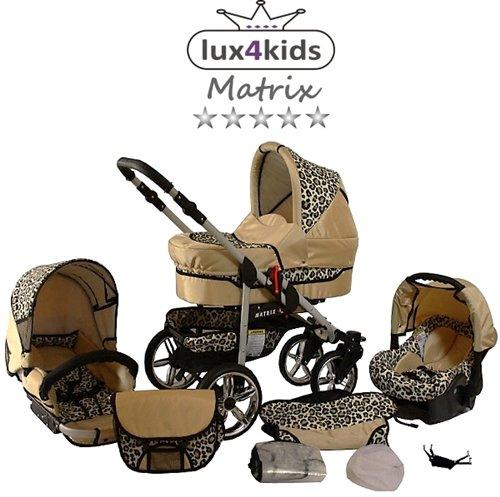 Juego de carrito para niños de Chilly Kids Matrix II, para invierno, con saco para dormir, asiento para coche, protector de lluvia, mosquitera, ...