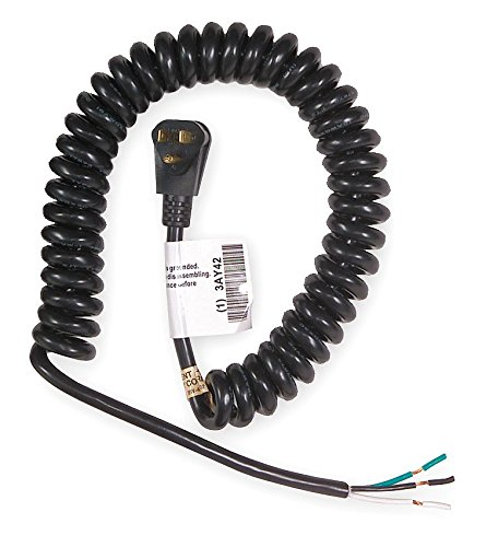 Power First 3AY42 Coiled Power Cord with NEMA 5-15P Plug ...