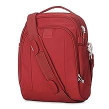 PacSafe Metrosafe LS250 Anti-Theft Shoulder Bag, Vintage Red