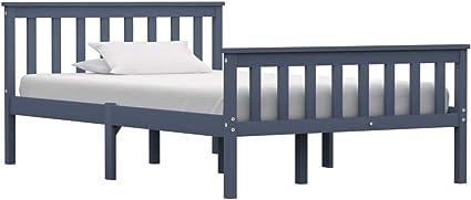 vidaXL - Marco de cama (120 x 200 cm), color gris: Amazon.es ...