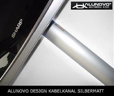 Longueur: 140cm Canal design pour c/âble aluminium en argent mat
