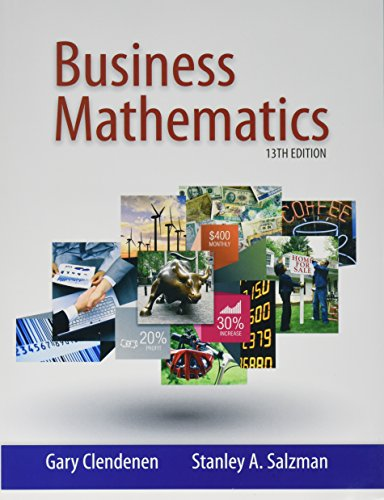 Business Mathematics, Student Solutions Manual, and MyLab Math -- Valuepack Access Card (13th Edition)