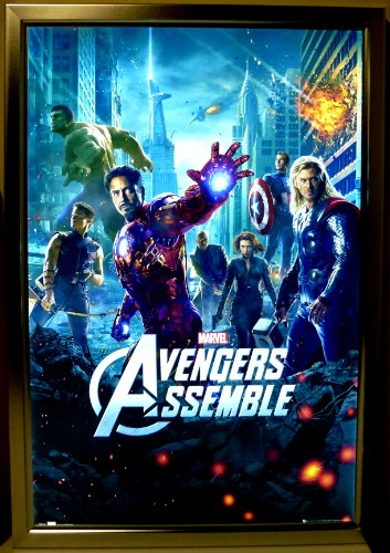 (Silver Light Box Display for Movie Posters 24 x 36 Inch in Silver, LED Movie Poster Display Frame )