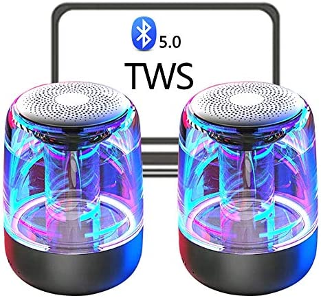 2-Pack TWS True Wireless Stereo Loudspeakers, Bluetooth 5.0