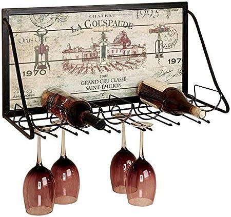 Estante Para Vino Estante Para Botellas Estante Para Vino Estante Para Almacenamiento Estante Para Vino De Metal Montado En La Pared Estante Para Hierro Y Vino Estante Para Colgar Copa De Vinotecas