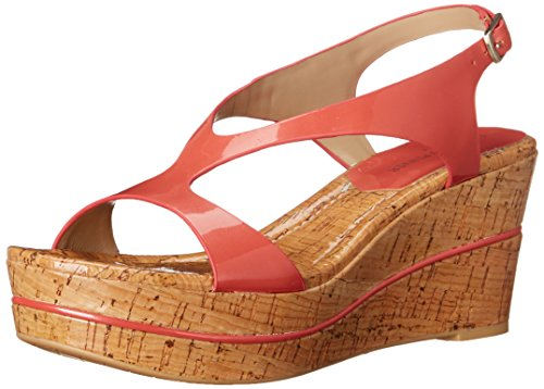 Donald J Pliner Women's DELON2-19 Wedge Sandal, Coral, 6 M US