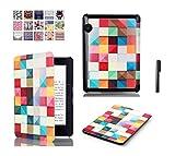 J Designer Smart Flip case cover for Amazon Kindle Voyage (Design-Multi Color Blocks)