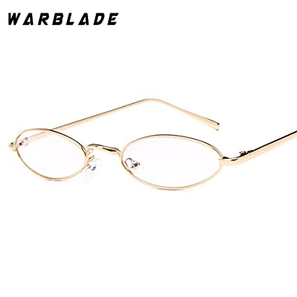 b2e6ce86624 Image Unavailable. Image not available for. Color  Round Clear Lens Glasses  Women Optics Eyeglasses Small Frames Trend 2018 Men Transparent Oculos  Myopia ...