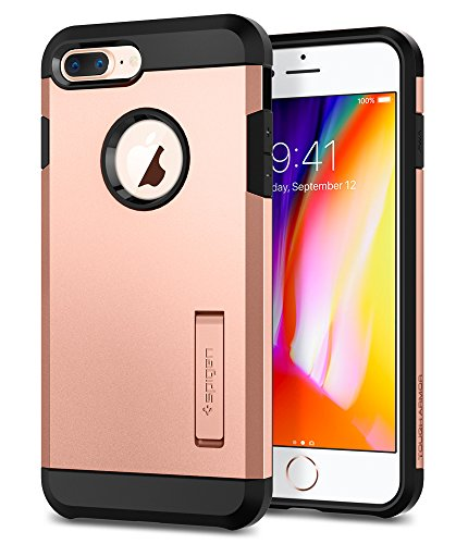 Spigen Tough Armor [2nd Generation] Designed for Apple iPhone 8 Plus Case (2017) / Designed for iPhone 7 Plus Case (2016) - Blush Gold