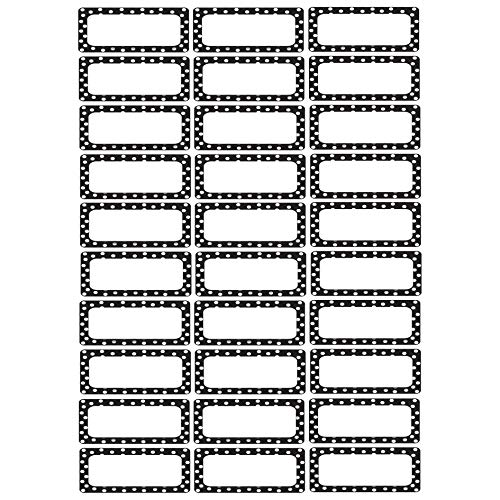 - Ashley Productions ASH10080BN Die-Cut Magnetic Foam Black & White Dots Labels/Nameplates, 30 Per Pack, 3 Packs