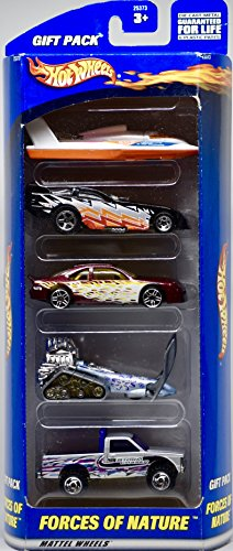 2000 - Mattel Inc - Hot Wheels Gift Pack - Forces of Nature 5 Vehicle Set - 1:64 Scale Die Cast - OOP - New - Collectible